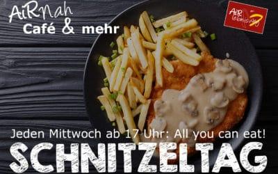 Ab sofort wieder: Jeden Mittwoch Schnitzeltag im AiRNah Café