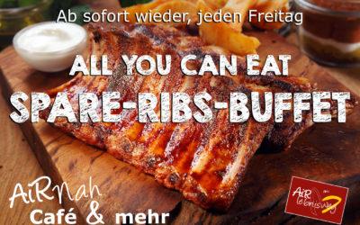 Neu: Jeden Freitag Spare-Ribs-Buffet – All you can eat