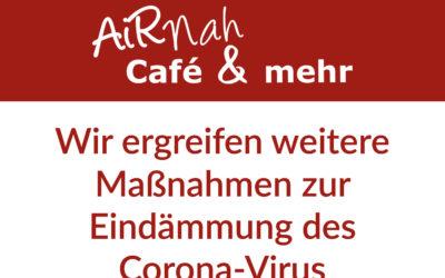 Änderung der Öffnungszeiten zur Eindämmung des Corona-Virus